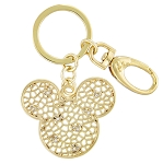 Disney Keychain - Mickey Mouse Webbed Icon - Gold