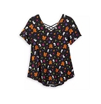 Disney Shirt for Women - Mickey Mouse Halloween Fashion Top - Black