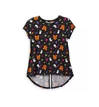 Disney Shirt for Girls - Mickey Mouse Halloween Fashion Top - Black