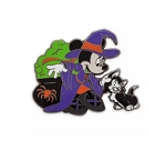 Disney Halloween Pin - Minnie Mouse Witch with Figaro