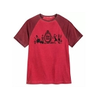Disney T-Shirt for Men - The Haunted Mansion Raglan - Red