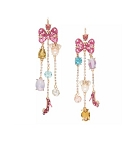 Disney Betsey Johnson Earrings - Minnie Mouse Cluster