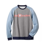 Disney Sweatshirt for Men - Walt Disney World Logo - Gray and Blue