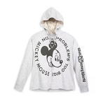 Disney Hooded Pullover for Women - Mickey Mouse No Problem - Gray