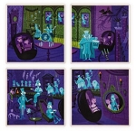 Disney Shag Coaster Set - The Haunted Mansion - 31 Ghosts