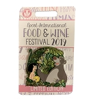 Disney Food & Wine Festival Pin - 2019 Mowgli & Baloo