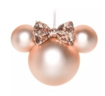Disney Minnie Ears Icon Ornament - Minnie Mouse - Briar Rose Gold