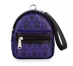 Disney Loungefly Backpack Wristlet -The Haunted Mansion Wallpaper