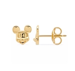 Disney Crislu Earrings - Mickey Mouse Face - Platinum or Gold