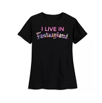 Disney Shirt for Girls - Fantasyland Reversible Sequin - Black