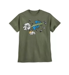Disney T-Shirt for Men - Millennium Falcon - Pew Pew - Green