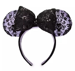 Disney Ears Headband - The Haunted Mansion Wallpaper - Black Bow