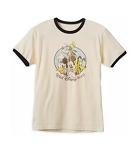 Disney T-Shirt for Men - Mickey Mouse and Friends Ringer - Tan