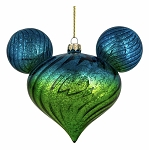 Disney Mickey Ears Icon Ornament - Mickey Mouse Ombre - Blue & Green