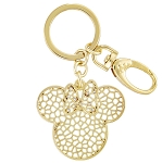 Disney Keychain - Minnie Mouse Webbed Icon - Gold