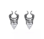 Disney Crislu Earrings - Maleficent - Cubic Zirconia