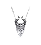 Disney Crislu Necklace - Maleficent - Cubic Zirconia