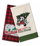 Disney Kitchen Towel Set - 2019 Mickey Mouse Holiday - Farmhouse