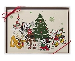 Disney Holiday Greeting Card Set - Farmhouse - Mickey Mouse & Friends