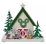 Disney Holiday Figure - Light Up Barn - Mickey and Friends - Wood