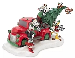 Disney Holiday Figurine - Mickey Mouse and Friends Truck - Light Up