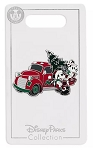Disney Holiday Pin - Mickey and Minnie with Truck