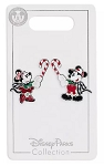 Disney Holiday Pin Set - Mickey and Minnie with Candy Canes