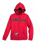 Disney Zip Hoodie for Girls - Holiday Mickey Mouse and Friends - Red