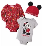 Disney Bodysuit Set for Baby - Holiday Mickey Mouse and Friends