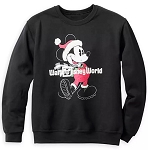 Disney Sweatshirt for Boys - Holiday Santa Mickey Mouse - Black