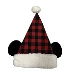 Disney Christmas Hat - Mickey Mouse Santa Hat - Plaid