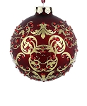 Disney Christmas Ornament - Mickey Icon - Victorian Filigree - Red