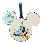 Disney Disc Ornament - 2019 Dated - Mickey Icon - Walt Disney World