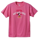 Disney T-Shirt for Women - Mickey with Walt Disney World Logo - Pink