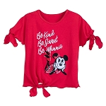 Disney Shirt for Girls - Minnie Tie Top - Be Kind Be Sweet Be Minnie