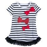 Disney Shirt for Girls - Minnie Mouse Striped with Bows