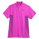 Disney Polo Shirt for Men - Nike Golf Mickey Mouse - Magenta Stripe