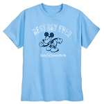 Disney T-Shirt for Adults - Mickey Mouse - Best Day Ever - Blue