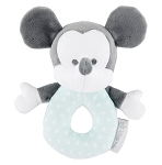 Disney Baby Toy - Mickey Mouse Plush Rattle - Blue