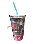 Disney Tumbler with Straw - The Haunted Mansion Icons