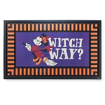 Disney Door Mat - Halloween Minnie Mouse Witch - Witch Way