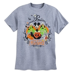 Disney T-Shirt for Adults - 2018 Halloween - Mickey and Friends - Gray