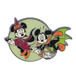 Disney Halloween Pin - Mickey and Minnie on Broom
