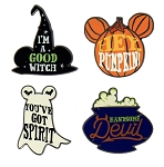 Disney Halloween Pin Set - Halloween Icon Flair Set - Set of 4