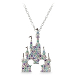 Disney Rebecca Hook Necklace - Fantasyland Castle - Multicolor