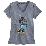Disney Ladies Shirt - Classic Minnie Mouse - Walt Disney World - Gray