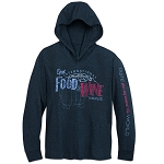 Disney Hooded Shirt for Adults - Food & Wine Festival 2018 - Gray