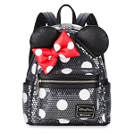 Disney Loungefly Backpack - Minnie Mouse Sequined - Mini