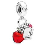 Disney Pandora Charm - Snow White Apple and Heart Box