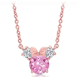 Disney Crislu Necklace - Minnie Mouse Icon - Pink